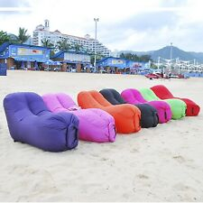 Inflatable Lazy Sleeping Air Bed Sofa Couch For Camping Hangout Beach Lounge
