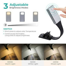 Foldable Eye LED Book Light Clip On Book USB Rechargeable Reading Night Lamp