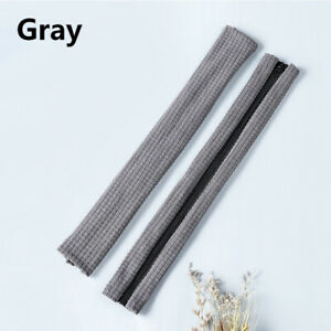 2PCS Solid Elastic Zipper Armrest Cover for Office Computer Chair Arm Rest Cover