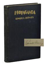 Propaganda ~ SIGNED by EDWARD L. BERNAYS ~ First Edition ~ 1st Printing 1928