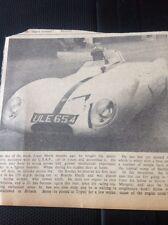 71-5 Ephemera 1957 Picture Merle Roberts Usaf Racing Car Manston