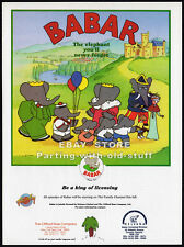 BABAR the Elephant__Original 1993 Toy Trade AD licensing promo__Industry Only