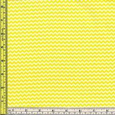 Mini Chevron John Deere Yellow Cotton Marshall Fabric 1/4 yard  22.5 cm off bolt