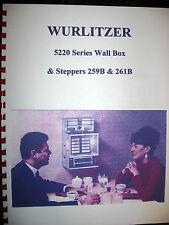 Wurlitzer Jukebox 5220 Series Wall Box Steppers 259B & 261B Manual Jukebox