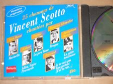 CD / 25 CHANSONS DE VINCENT SCOTTO CHANTEES PAR... / TRES BON ETAT