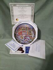 McDonald's Golden Moments plate-Bill Bell-Franklin Mint-#Hc4784 w/stand & coa