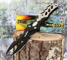 "8.5"" Tactical Combat Fantasy Dragon Cosplay Dual Twin Blade Folding Pocket Knife"