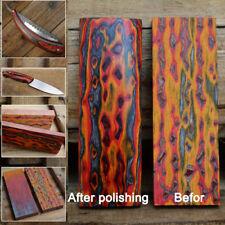 Wood Block Knife Handle Material Plate Making 3D Colorful Knives Blacksmith DIY