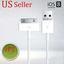 10FT 3M EXTRA LONG 30-PIN USB CHARGE SYNC TRANSFER CABLE FOR APPLE i PAD 2 3