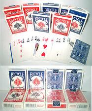 carte da gioco bicycle rosso e blu 8 mazzi poker 808