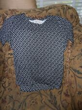 Ann Taylor Loft black and white shell dress top size S