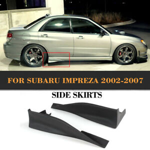 Unpainted Rear Splitters Flaps Side Skirts Covers Fit For Subaru Impreza 2002-07
