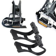 Durable Bicycle Pedals with Toe Clips and Straps Bike Pedals Clips Straps AT