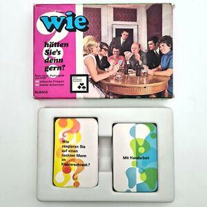 ©1972 Nürnberger Kartenspiel WIE HÄTTEN SIE'S DENN GERN? Erwachsene/Frivol/Party