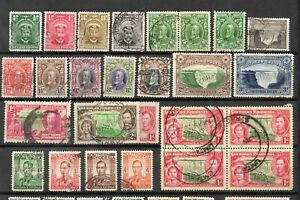 SOUTHERN RHODESIA. GV to 1953. 68 Stamps  mint and used. 3 scans