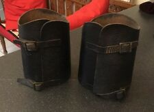 Vintage Leather ? Military Gaters Gaiters Gators Riding Shin Boot Guards Spats