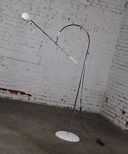 Orbiter Floor Lamp in White by Robert Sonneman