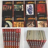 Battle Royale Volumes 1-6, 8, 13 Lot English Manga Koshun Takami Tokyopop