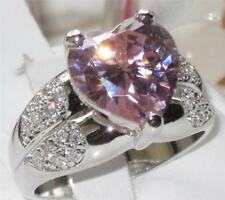 Unbranded Heart Rhodium Plated Costume Rings