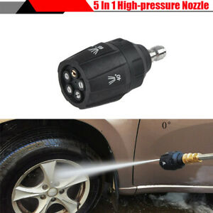 5-in-1 Multi-angle Car Wash Gun Quick Plug Connect Nozzle 3600PSI High Pressure