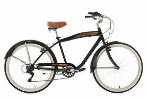 "Beachcruiser 6 Vitesses 26"" Vintage Noir Vélo Neuf TC 46 cm KS Cycling 729B"