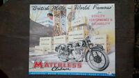 MATCHLESS Placa metalica litografiada anuncio publicidad 39 x 33 cm. replica