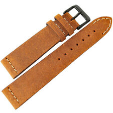 22mm ColaReb Italy Spoleto Rust Brown Leather PVD BUCKLE Mens Watch Band Strap
