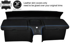 BLUE STITCH REAR STORAGE PANEL LEATHER COVERS FITS HONDA CRX DEL SOL 92-97