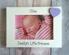 Handcrafted personalizzata Mummy's o Daddy's Little Princess Photo Frame Regalo