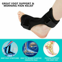 Plantar Fasciitis Night Splint Foot Drop Brace For Heel Pain Relief Adjusta `.JC