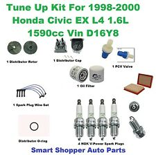 Tune Up Kit For 98-00 Civic EX L4 1.6L Spark Plug Wire Set, Oil Filter, PCV Valv