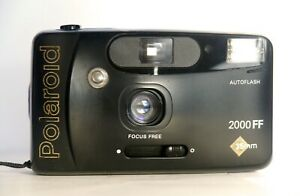 Polaroid 2000FF point&shoot compact film camera 35mm working with strap