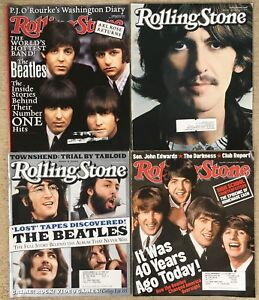 ROLLING STONE The Beatles George Harrison 4 Issues 863 887 916 942 Magazine