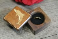 Ring Box Jewelry Gift Wedding Proposal Engagement Dolphin Beach Handmade