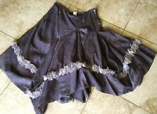 ART Clothing atelier leganlook assmetrical linen and silk chiffon rosette skirt