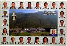 Cartolina Juventus - Chatillon Ritiro Estivo 1996 Con Annullo Juventus-Mancheste