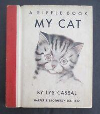 MY CAT by Lys Cassal, 1949 Riffle Book, Rare  Flip Book