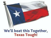 We'll Beat This Together Texas Yard Sign