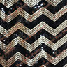 """Chevron Zigzag Sequin Fabric 55"""" Width By The Yard Black / Gold"""