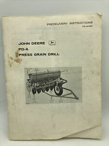 John Deere PD-4 Press Grain Drill Pre- Delivery Instructions Manual Book Guide