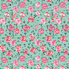 City Girl Collection Flower Market Camelot Aqua 100% Cotton Fabric by the Yard