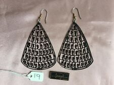 Pierre Bex Ferraggioli Black Tribal Earrings/Clips CHOOSE DESIGN From Pictures