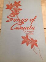 VINTAGE Music Sheets, Songs Of Canada Words And Music Booklet, Old Sheet music
