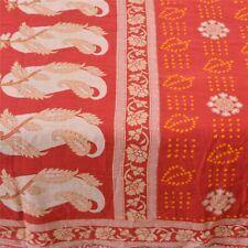Sanskriti Vintage Sarees Pure Cotton Bandhani Printed Sari Decor Craft Fabric