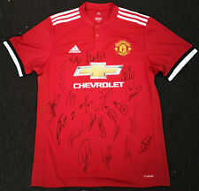 Manchester United Signed Team Squad 2017/18 Home Jersey Brand New 100% Authentic