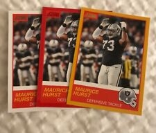 2019 Panini Score Maurice Hurst Red & Base & Gold Parallel Lot #36 Raiders
