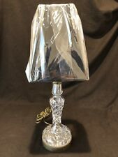 Waterford Crystal Vintage Table Lamp Tall Slender Brass Beautiful Gothic Mark