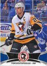 16/17 UPPER DECK AHL #51 TOM KOSTOPOULOS WILKES-BARRE SCRANTON PENGUINS *30972