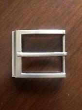 Simple Squared Snap On Belt Metal Unisex Men's Belt Buckle