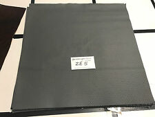 "Grey Perforated Scrap Leather Cowhide Remnant 15"" X 15"" ZE5-2"
